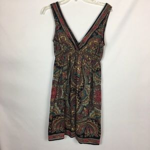 Angie Tops - Angie Boho Chic V-neck Paisley Top M